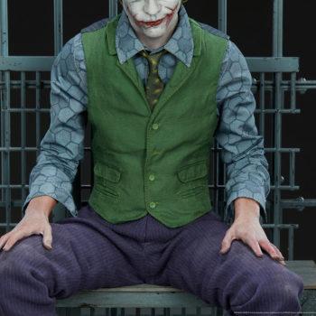 The Joker Premium Format™ Figure Suit fabric costume detail