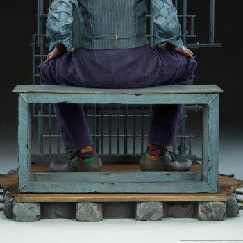 The Joker Premium Format™ Figure Jail Cell Bench Base- From Behind