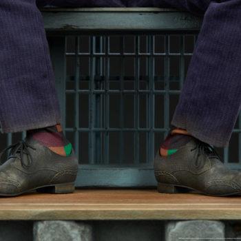 The Joker Premium Format™ Figure Pants and Socks Close-Up