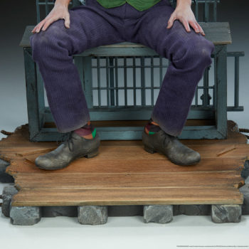 The Joker Premium Format™ Figure Jail Cell Bench Base 2- From Front