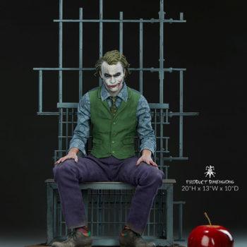 "The Joker Premium Format™ Figure Jail Cell Scene Measurements- 20"" H x 13"" W x 10"" D"