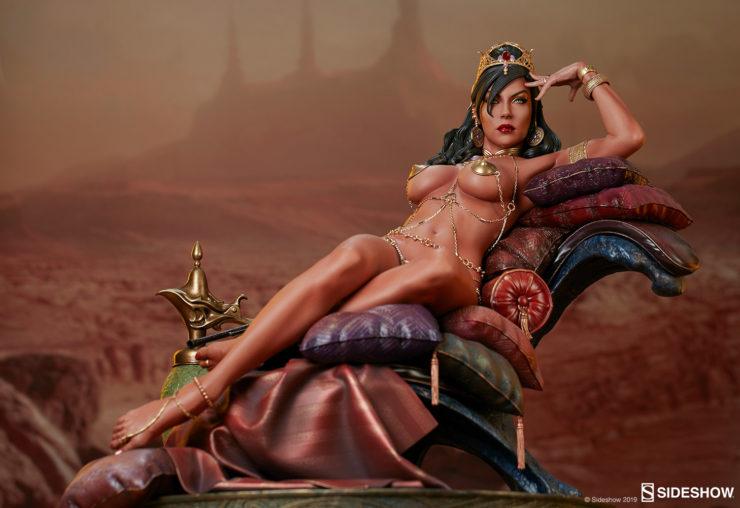 Dejah Thoris Premium Format™ Figure With Dramatic Mars Background 1