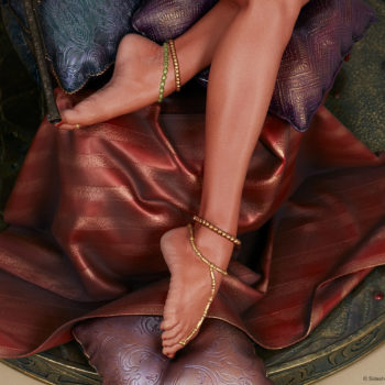 Dejah Thoris Premium Format™ Figure Feet and Sleeping Silks