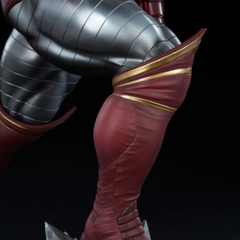 Colossus Premium Format™ Figure Right Leg Detail from the Side, Knee Bent