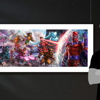 X-Men: A Legend Reborn Deluxe Fine Art Print by Ian MacDonald after Jim Lee Unframed Edition Scale Shot