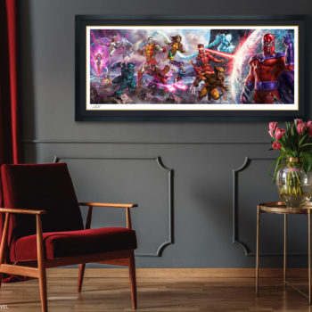 X-Men: A Legend Reborn Deluxe Fine Art Print by Ian MacDonald after Jim Lee Black Framed Edition Environment Shot