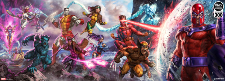 Mutants Unite in the X-Men: A Legend Reborn Deluxe Fine Art Print Inspired by Jim Lee