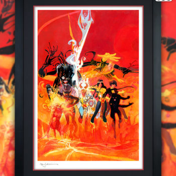 New Mutants Fine Art Lithograph by Bill Sienkiewicz Black Framed Edition
