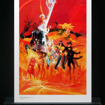 New Mutants Fine Art Lithograph by Bill Sienkiewicz Unframed Edition