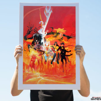 New Mutants Fine Art Lithograph by Bill Sienkiewicz Unframed Edition Open Lit Shot