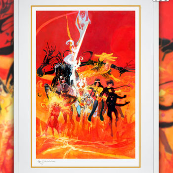 New Mutants Fine Art Lithograph by Bill Sienkiewicz White Framed Edition