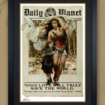 Only Love Fine Art Print by Heather Edwards Black Framed Edition