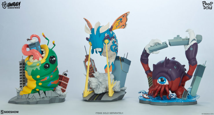 """Unruly Industries as SDCC 2019- Kaiju Collection by Mike """"poopbird"""" Groves"""