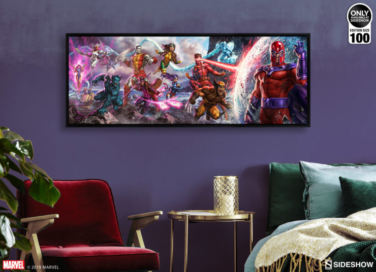 X-Men: A Legend Reborn Deluxe Framed Canvas by Ian MacDonald after Jim Lee Environment Shot