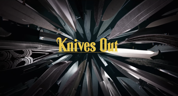 Knives Out title card