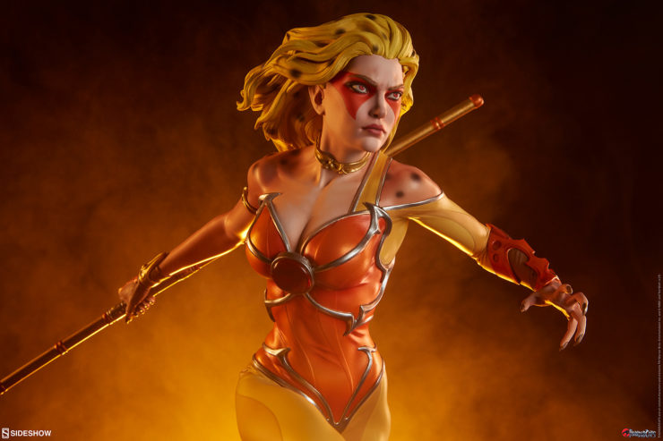 cheetara thundercats statue by sideshow with cheetara wielding her bo staff