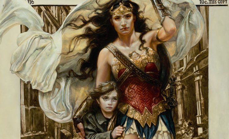 Wonder Woman Overcomes Injustice in the Only Love Fine Art Print by Heather Edwards