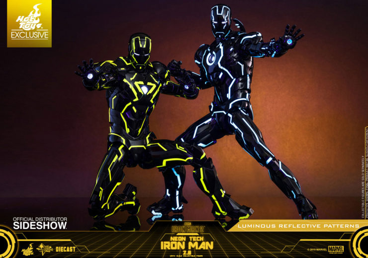 FIRST LOOK at the Comic-Con Exclusive Hot Toys Neon Tech Iron Man 2.0 Sixth Scale Figure!
