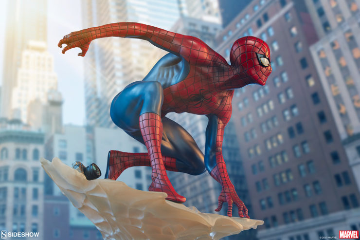 Spider-Man Marks Brooks Statue
