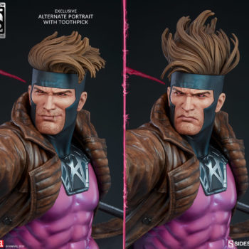 Gambit Maquette Collector and Exclusive Edition Portrait Comparison