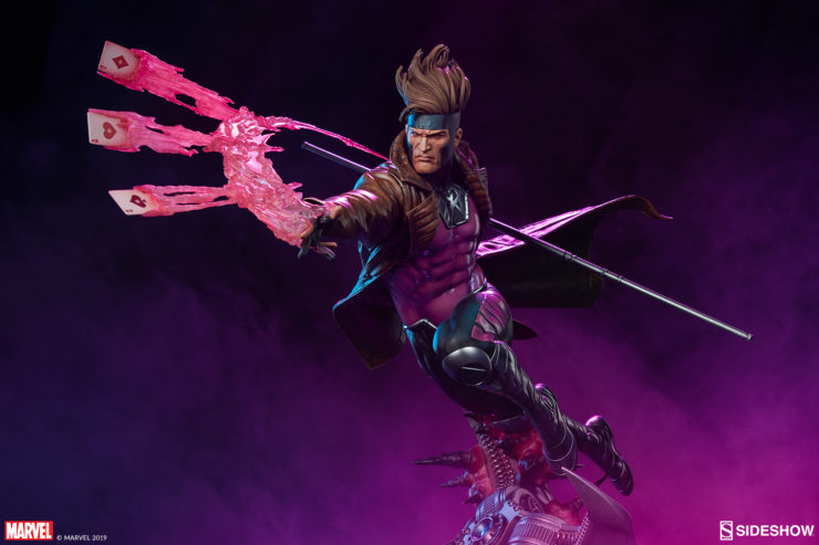 Gambit Maquette with Dramatic Purple Background