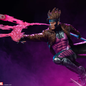 Gambit Maquette Left-Facing View with Purple Background