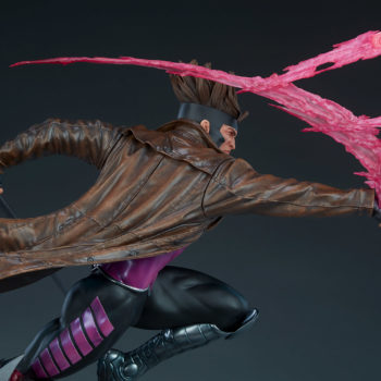 Gambit Maquette Back View of Figure and Kinetic Cards