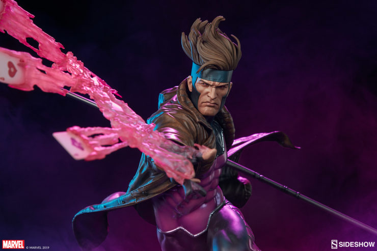 Gambit Maquette Front-Facing View with Purple Background