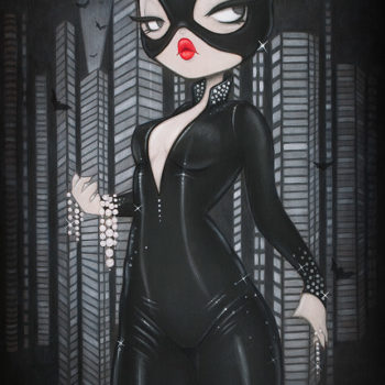 Gotham Girls Fine Art Print Set by Emma 'Anarkitty' Geary Catwoman
