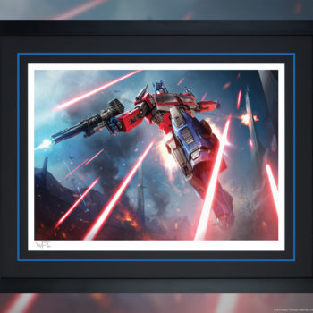 Optimus Prime: More Than Meets the Eye! Fine Art Print by Darren Tan Black Framed Edition