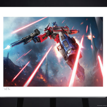 Optimus Prime: More Than Meets the Eye! Fine Art Print by Darren Tan Unframed Edition