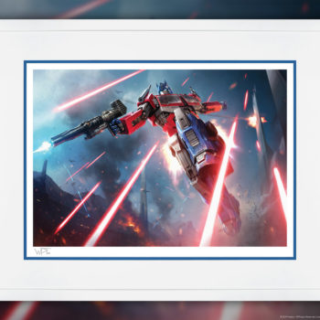 Optimus Prime: More Than Meets the Eye! Fine Art Print by Darren Tan White Framed Edition