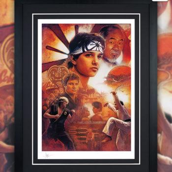 Karate Kid 35th Anniversary Fine Art Print by Paul Shipper Black Framed Edition