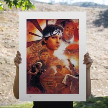 Karate Kid 35th Anniversary Fine Art Print by Paul Shipper Unframed Edition Open Lighting Shot