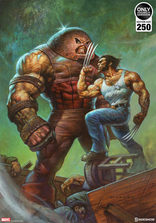 Juggernaut vs. Wolverine Fine Art Print by Alex Horley after Adam Kubert