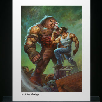 Juggernaut vs. Wolverine Fine Art Print by Alex Horley after Adam Kubert Unframed Edition