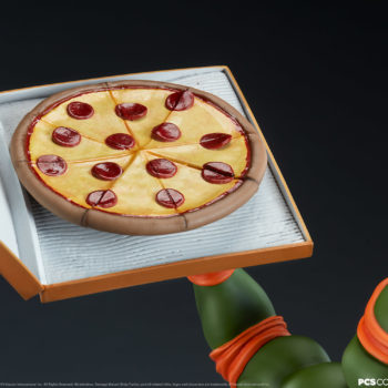 Michelangelo 1:4 Scale Statue Pizza Box Exclusive Hand with Pizza