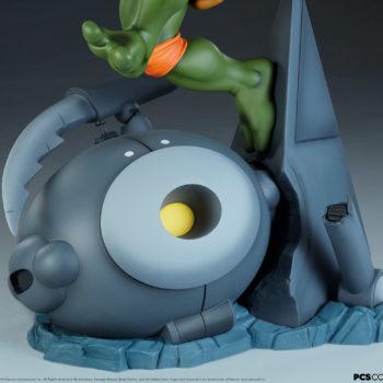 Michelangelo 1:4 Scale Statue Technodrome Defense Robot Base View 1