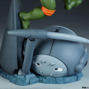 Michelangelo 1:4 Scale Statue Technodrome Defense Robot Base View 2