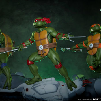 Michelangelo 1:4 Scale Statue with Raphael and Donatello Statues from PCS Collectibles