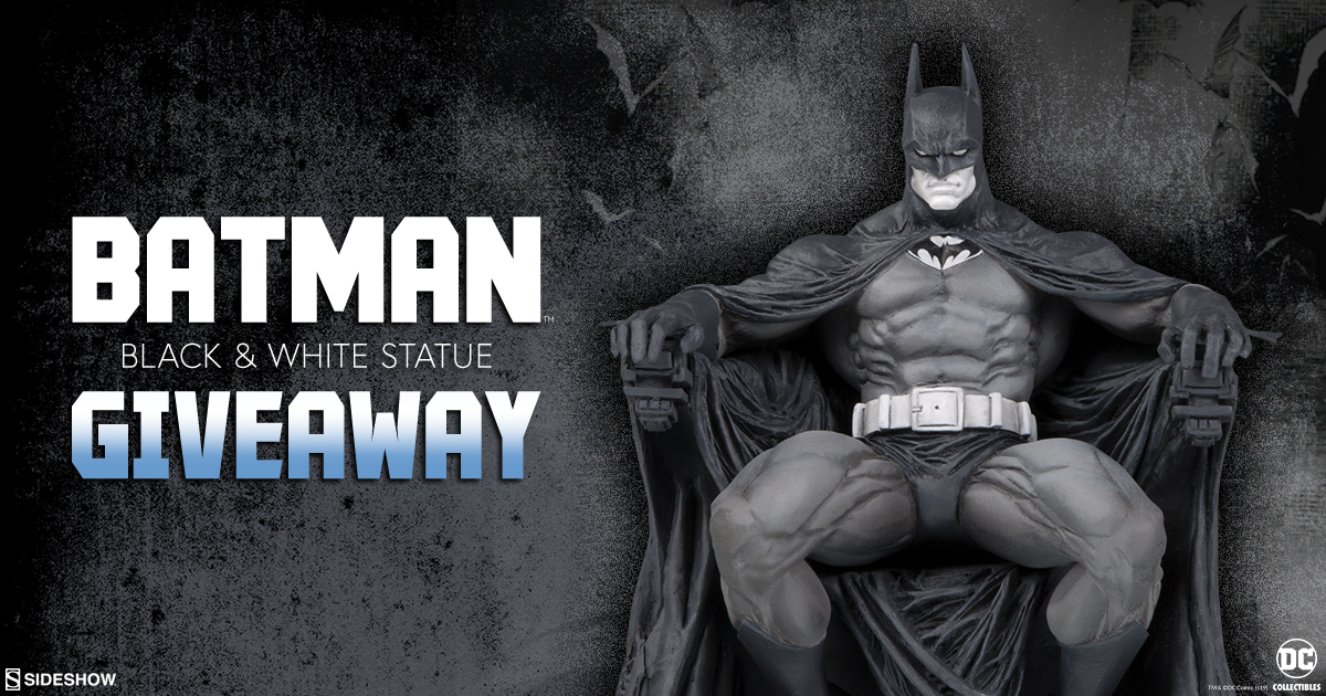 DC Collectibles Batman Black and White Statue Giveaway