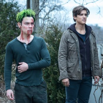 Beast Boy and Nightwing in Titans Season 2 photos