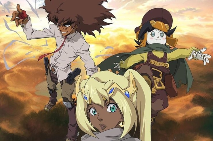 Cannon Busters Official Trailer Netflix with all three heroes posing