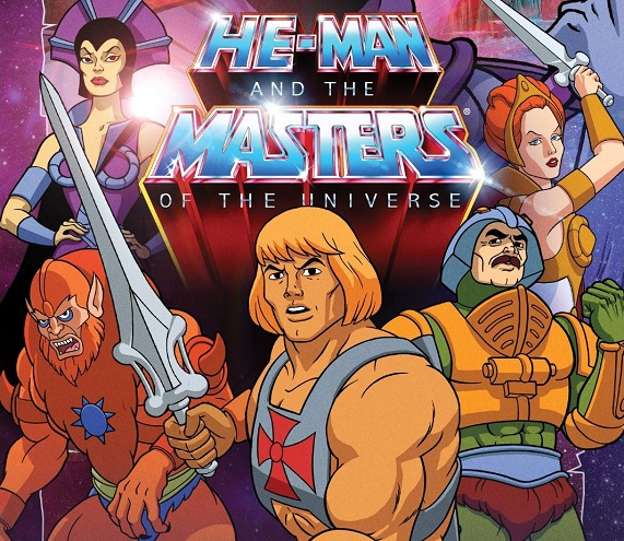 He Man and the Masters of the Universe dvd cover with all five heroes on the front