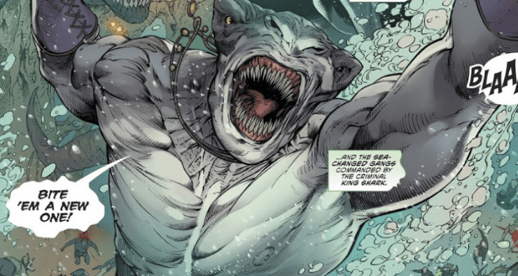 King Shark in the comics announcing himself