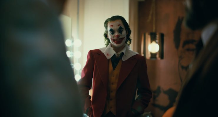 Joker in the green room for a TV show