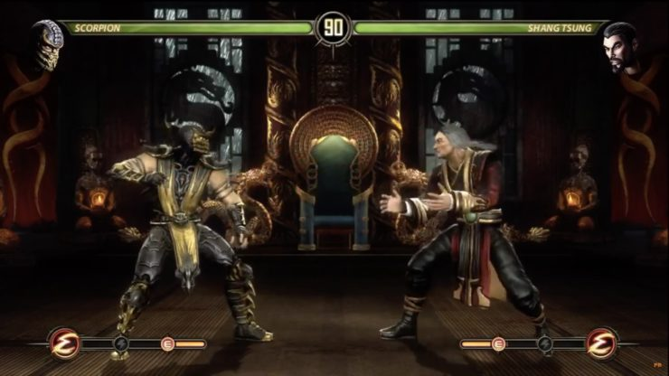 Scorpion vs. Shang Tsung in Mortal Kombat