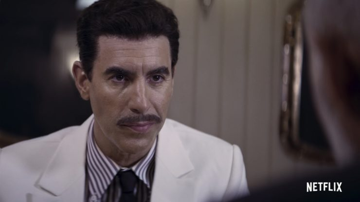 The Spy Official Trailer showing Sacha Baron Cohen playing the double agent Eli Cohen