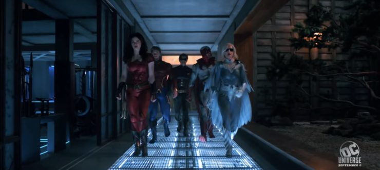 Titans team walking forward