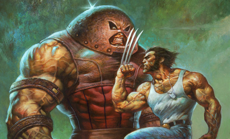 Alex Horley Pays Tribute to Adam Kubert's X-Men Artwork with the Juggernaut vs. Wolverine Fine Art Print
